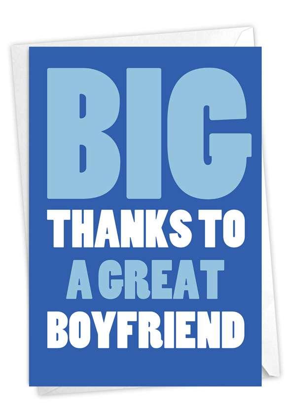 Great Boyfriend: Hilarious Thank You Printed Card