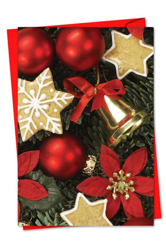 Red Bliss: Creative Christmas Paper Greeting Card