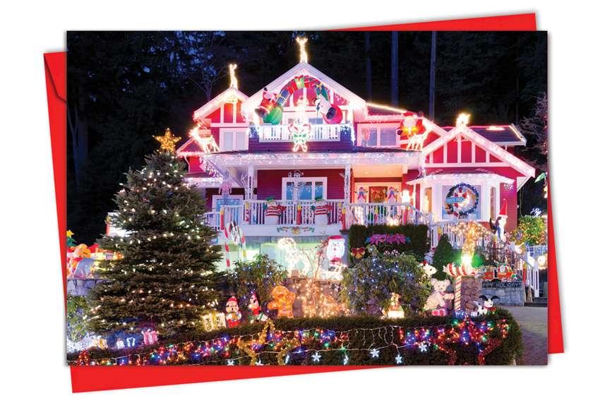 Homes and Garlands: Stylish Christmas Greeting Card