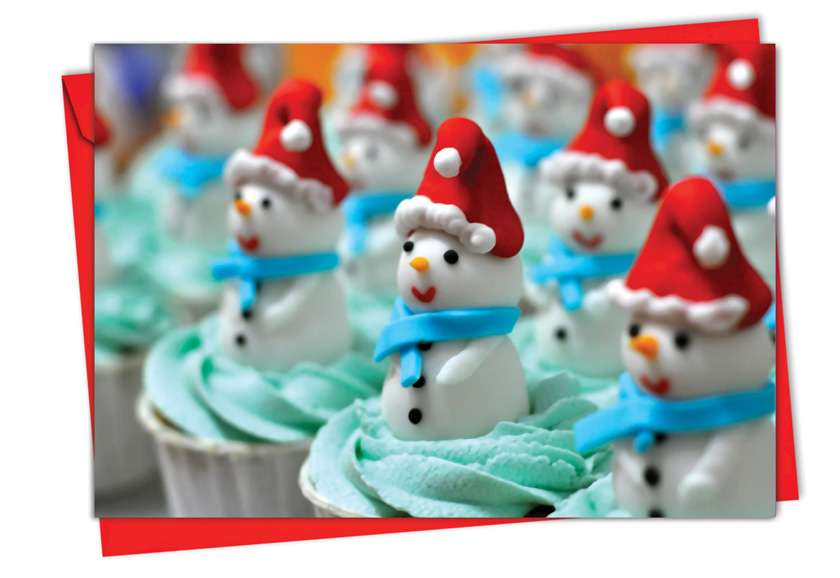 Christmas Cupcakes: Stylish Christmas Greeting Card