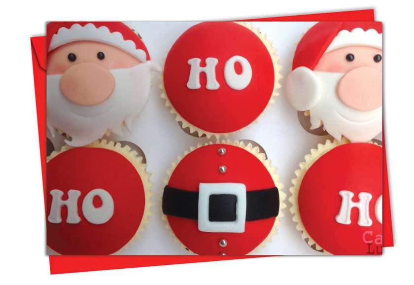 Christmas Cupcakes: Creative Christmas Printed Card