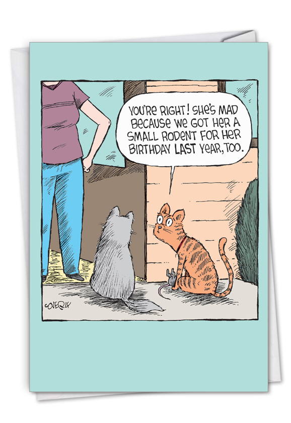 Rodent Present: Hysterical Birthday Printed Card