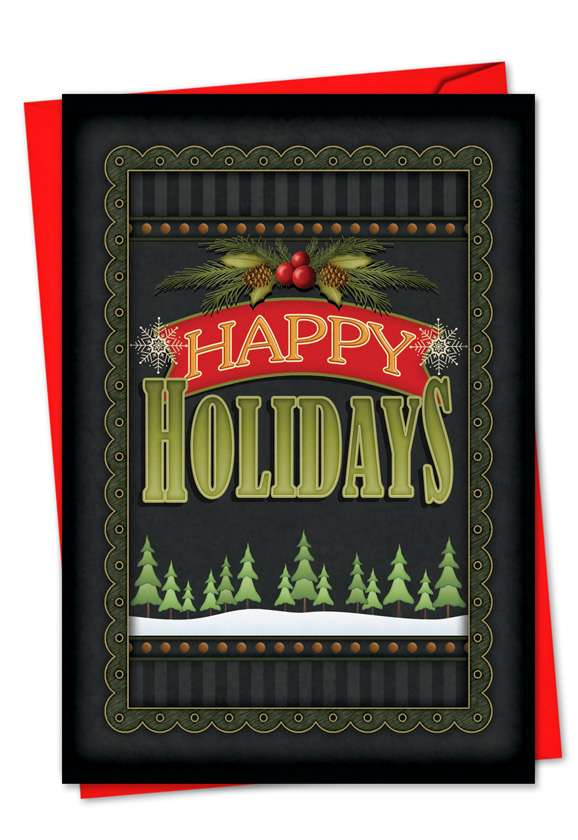 Chalk Up Another Holiday: Stylish Christmas Greeting Card
