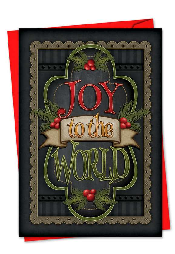 Chalk Up Another Holiday: Creative Christmas Printed Greeting Card