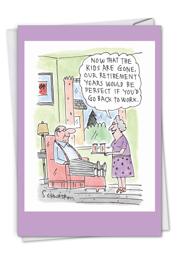 Back To Work: Humorous Retirement Card