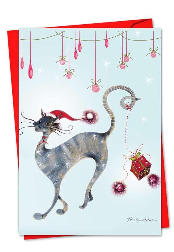 Catitude Festive Felines: Creative Christmas Paper Card
