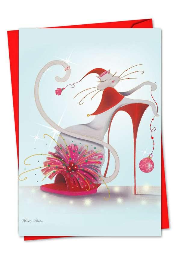 Catitude Festive Felines: Creative Christmas Printed Card