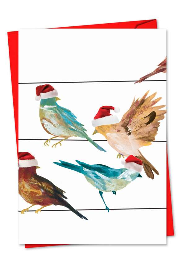 High Wire Birds: Creative Christmas Greeting Card