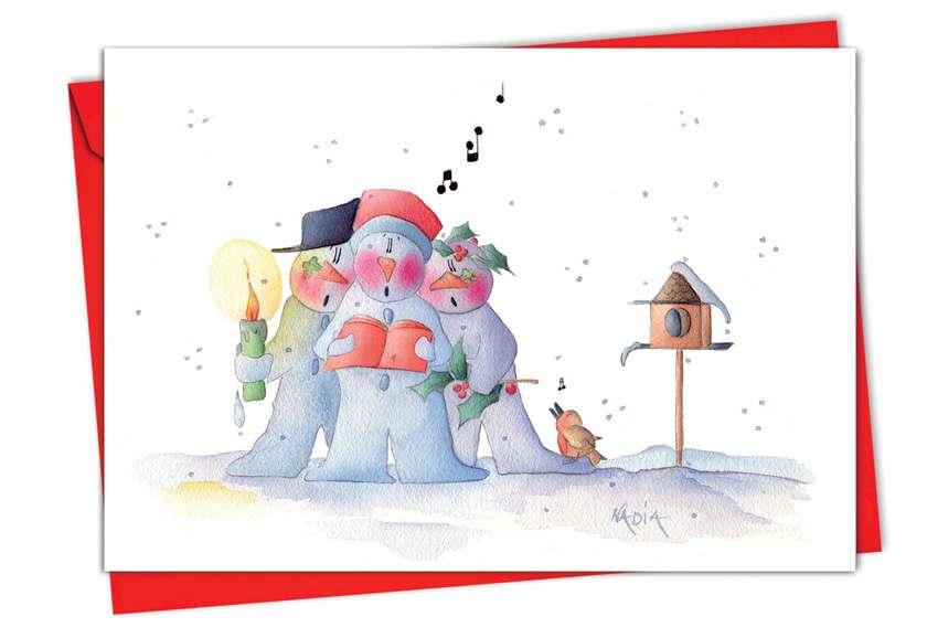 Snow Buddies: Creative Christmas Paper Card