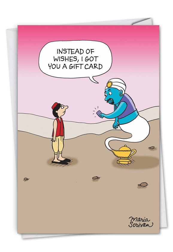 Genie Gift Card: Funny Birthday Paper Card