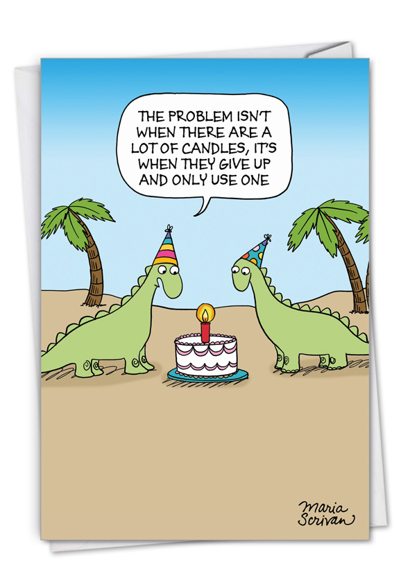 One Candle: Hilarious Birthday Printed Card