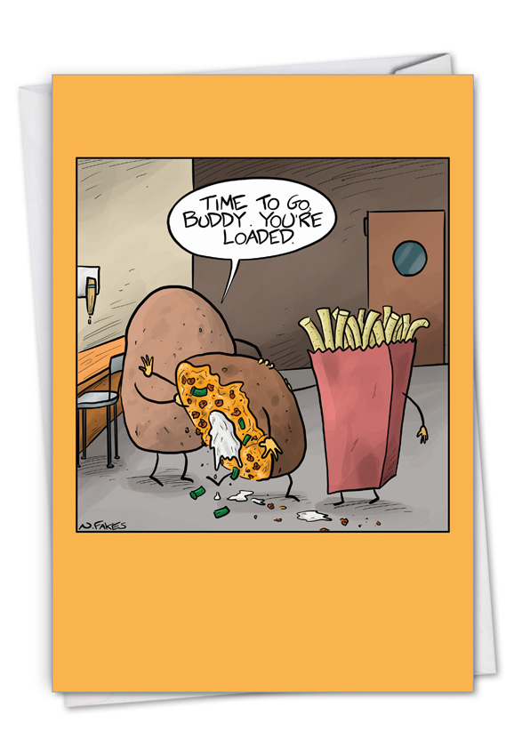 Best Spud: Hilarious Birthday Greeting Card