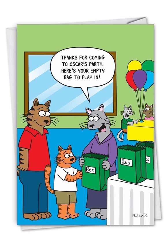 Empty Bag: Humorous Birthday Paper Card