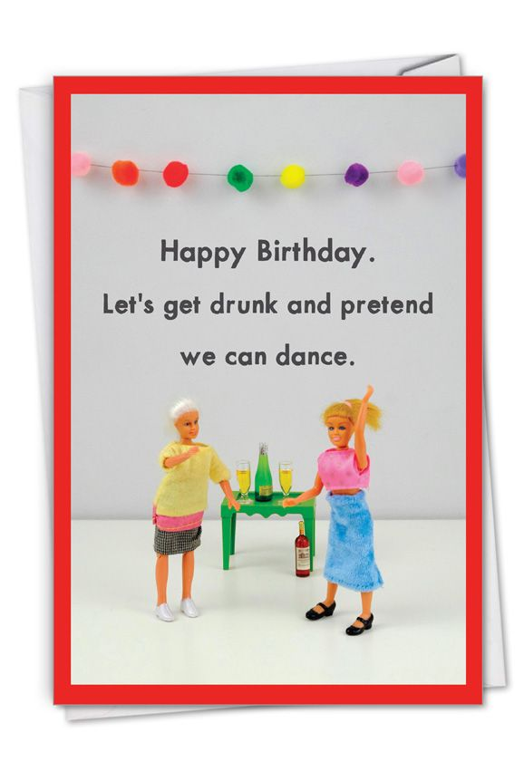 Pretend To Dance: Hilarious Birthday Printed Card