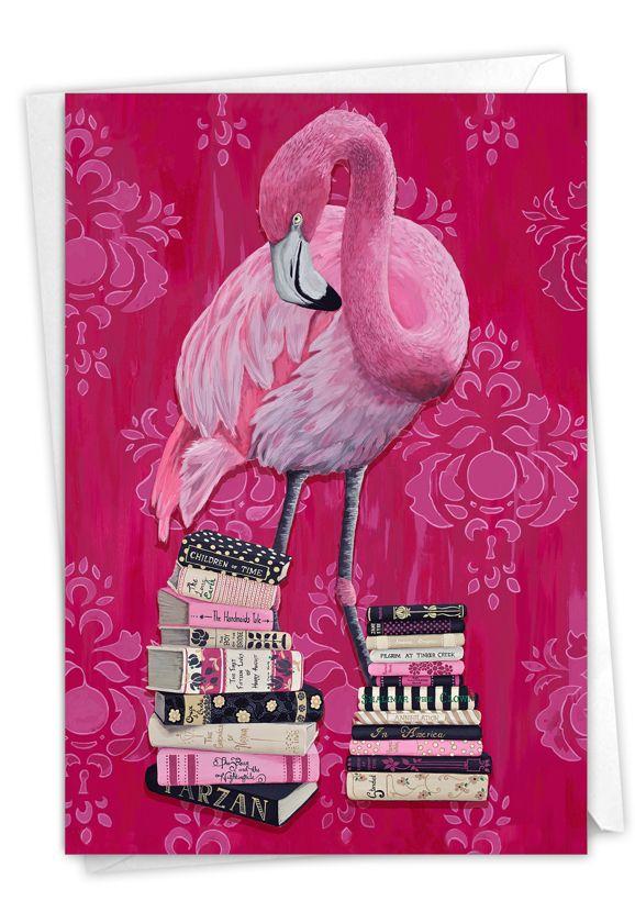 Fancy Wildlife - Flamingo: Creative Birthday Printed Card