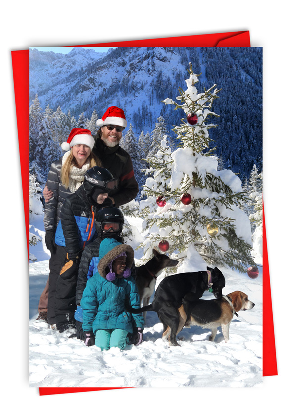 Family Dirty Dogs: Humorous Merry Christmas Paper Card