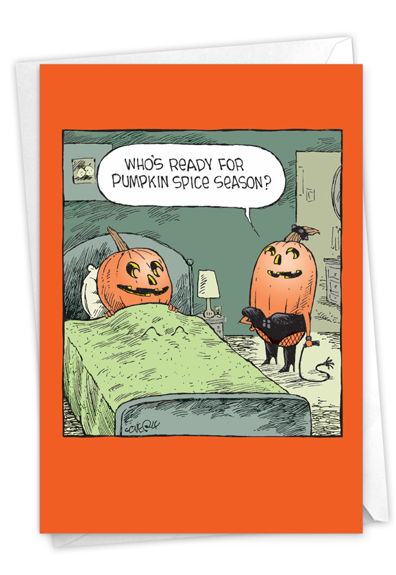 Spicy Pumpkins: Funny Halloween Paper Card