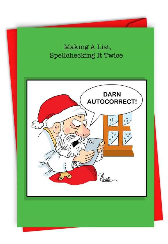 Santa Autocorrect: Humorous Merry Christmas Card