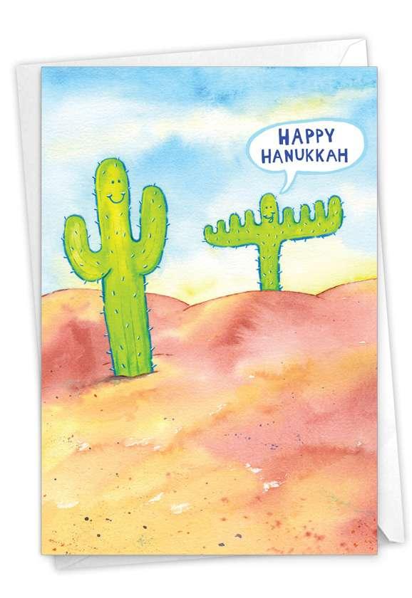 Menorah Cactus: Funny Hanukkah Paper Card