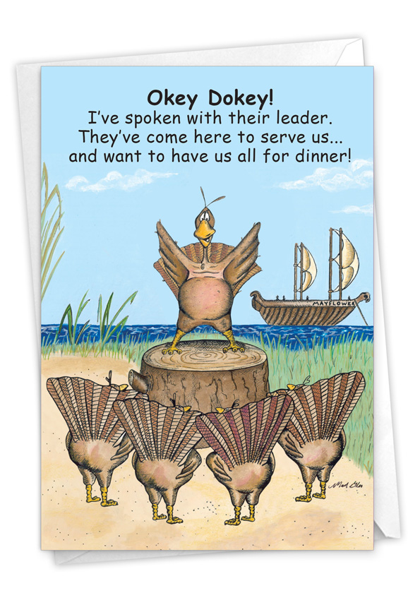 First Turkeys: Hysterical Thanksgiving Greeting Card