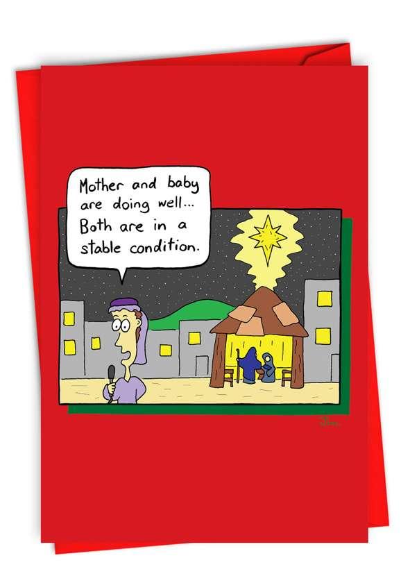 Bethlehem News: Funny Merry Christmas Paper Card