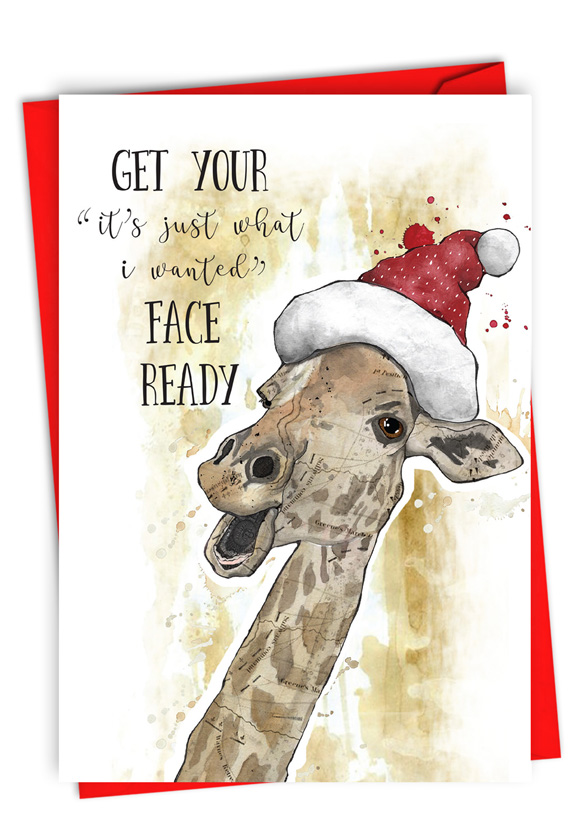 Holiday Fake Face: Funny Merry Christmas Card