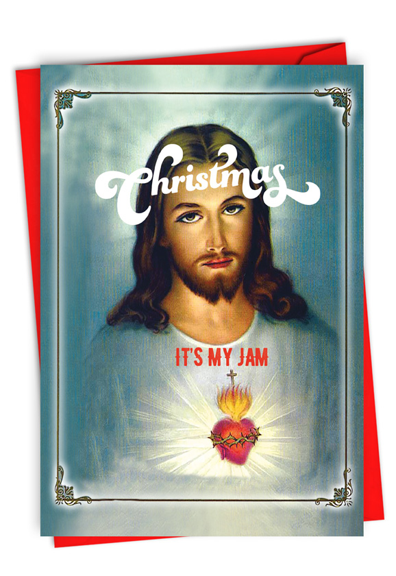 It's My Jam: Humorous Merry Christmas Paper Greeting Card