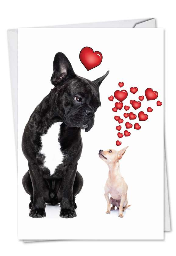 Dogs in Love: Hilarious Valentine's Day Printed Card