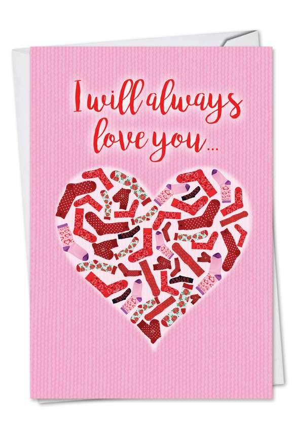 Dirty Socks: Humorous Valentine's Day Printed Card