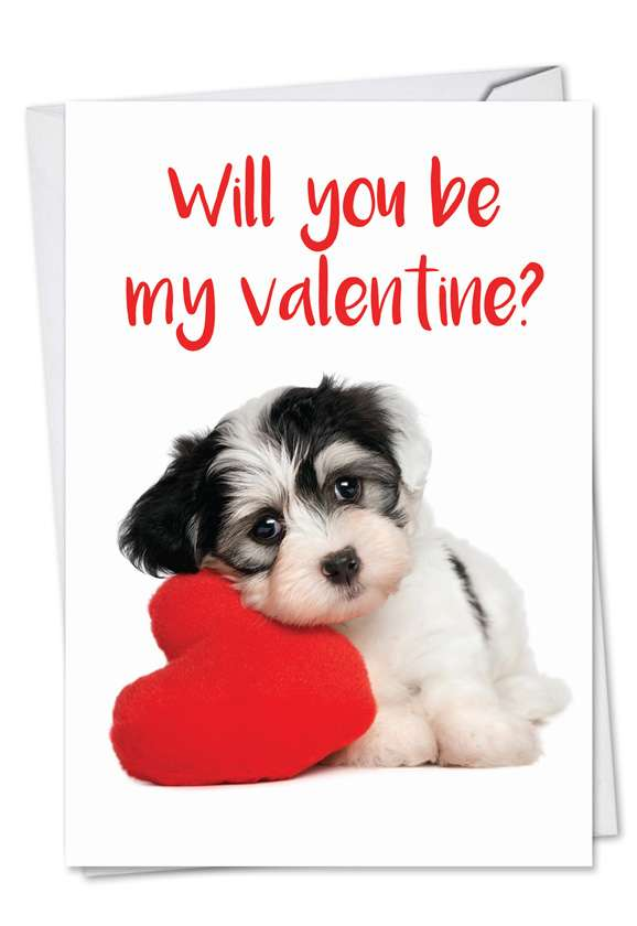 Puppy Heart: Hilarious Valentine's Day Printed Greeting Card