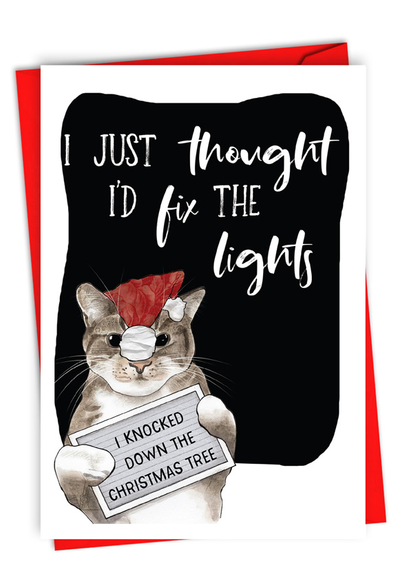 Fix The Lights: Humorous Merry Christmas Card