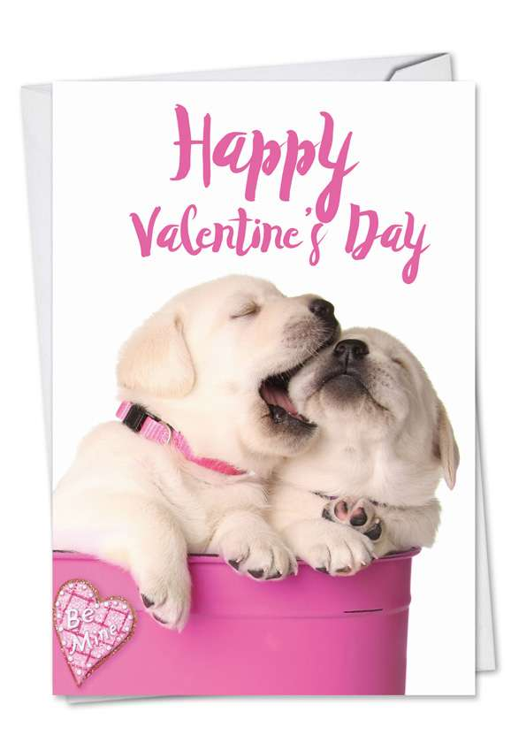 Pups in Love: Hysterical Valentine's Day Greeting Card