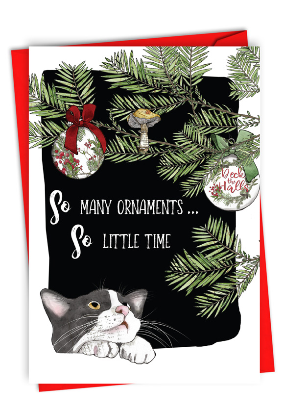 So Many Ornaments: Funny Merry Christmas Paper Card