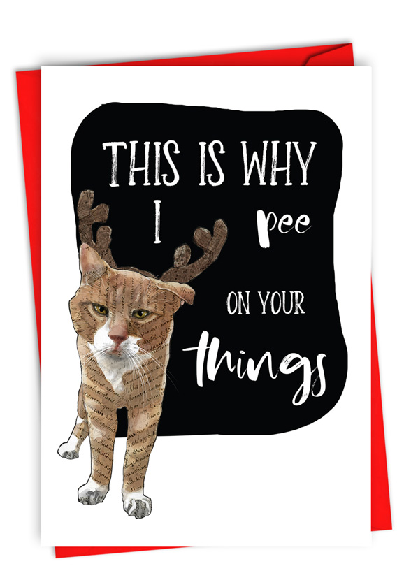 Why I Pee: Funny Merry Christmas Card