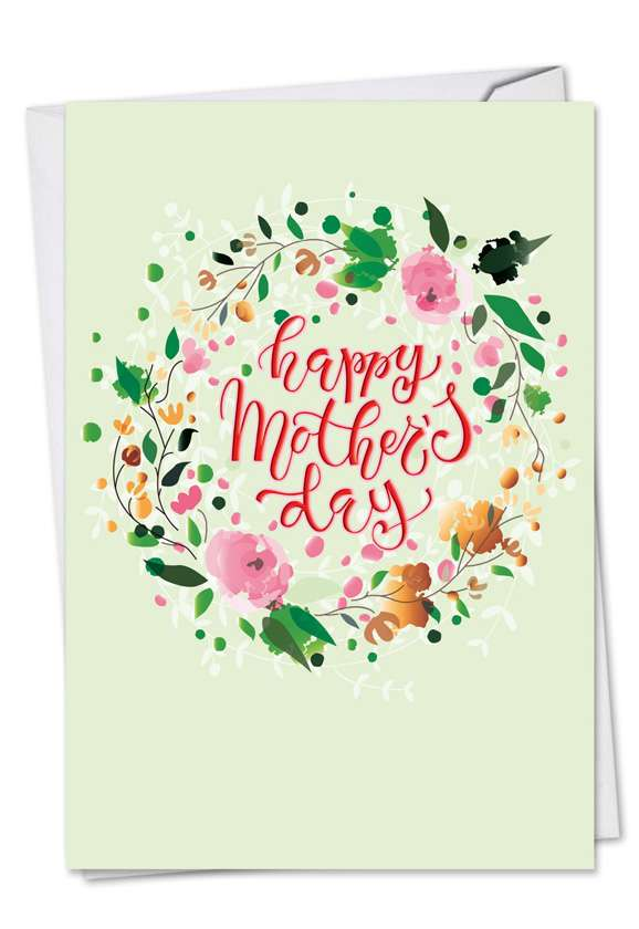 Watercolor: Stylish Mother's Day Paper Greeting Card