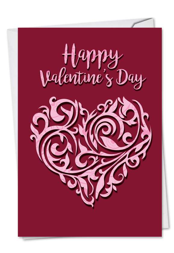 Vector Heart: Stylish Valentine's Day Greeting Card