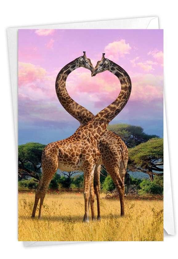 Loving Animals: Creative Anniversary Printed Greeting Card