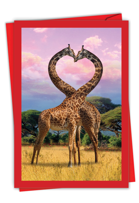 Loving Animals - Giraffes: Creative Valentine's Day Card