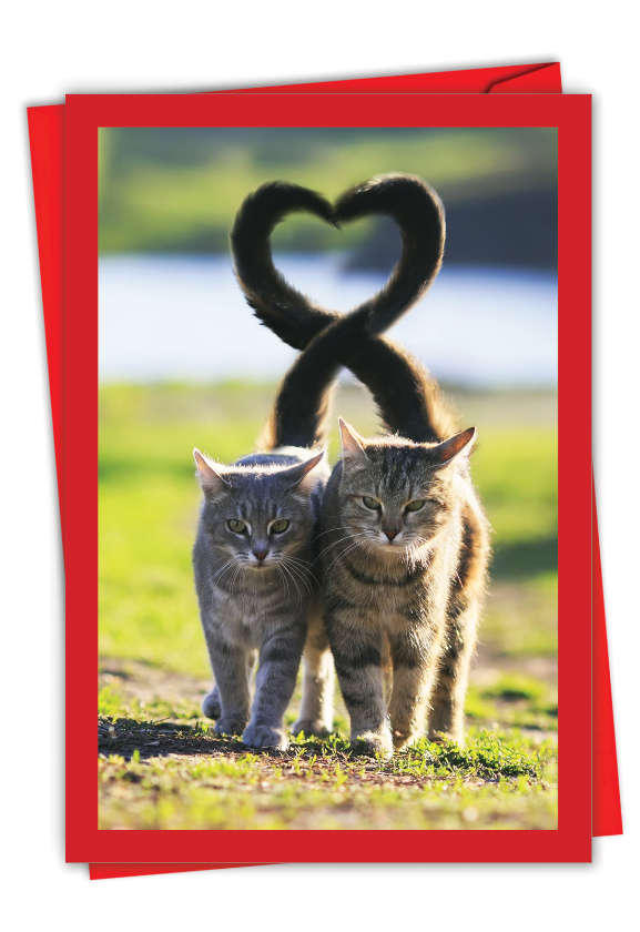 Loving Animals - Cats: Artful Valentine's Day Greeting Card