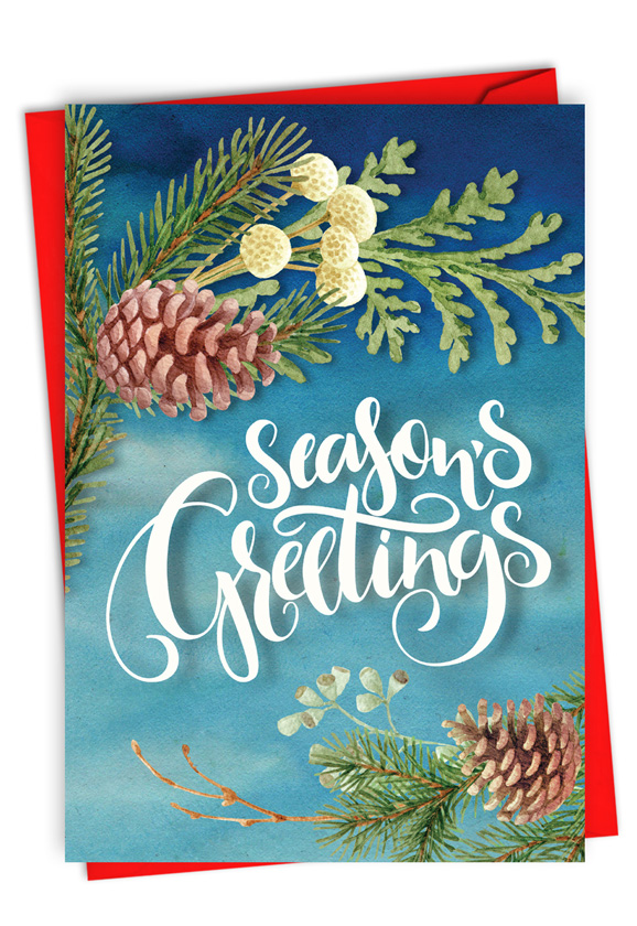 Joyful Holidays - Season's Greetings: Creative Merry Christmas Printed Greeting Card
