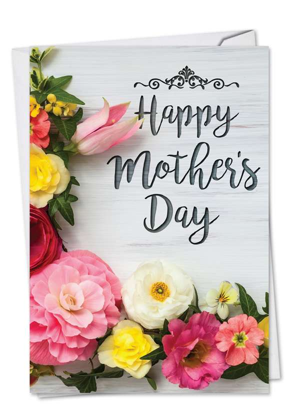 Mother's Day Blooms: Creative Mother's Day Printed Greeting Card