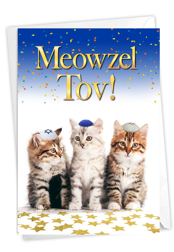Meowzel Tov: Hysterical Congratulations Greeting Card