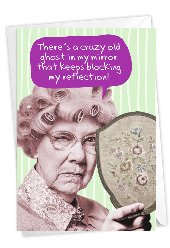 Haunted Mirror: Hilarious Birthday Printed Card