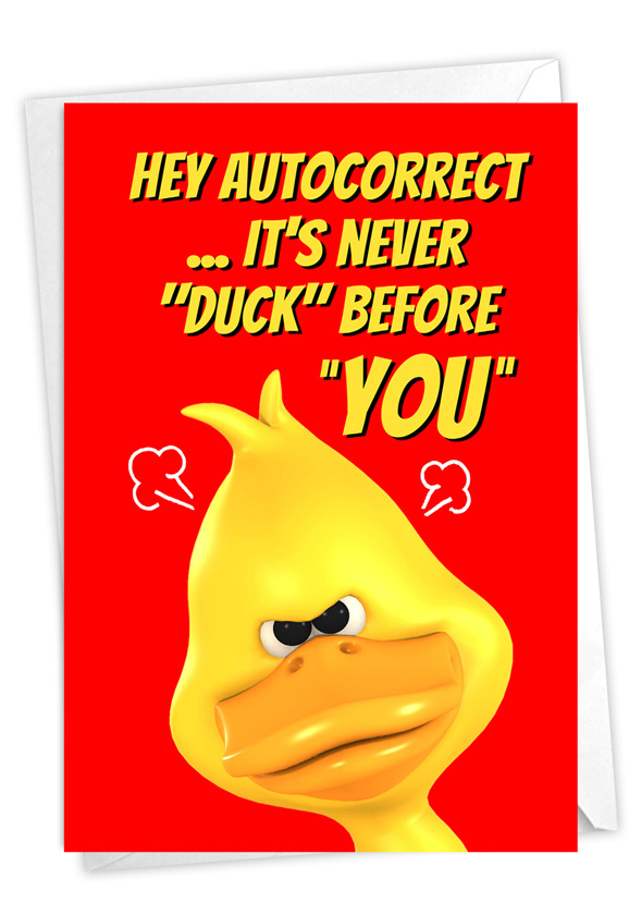 Never Duck: Humorous Birthday Paper Greeting Card