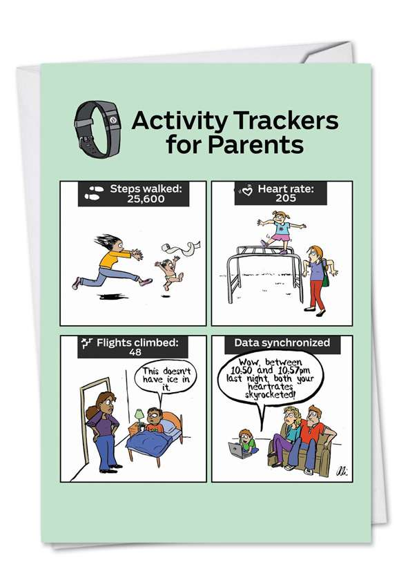 Parents Activity Trackers: Hilarious Mother's Day Paper Card