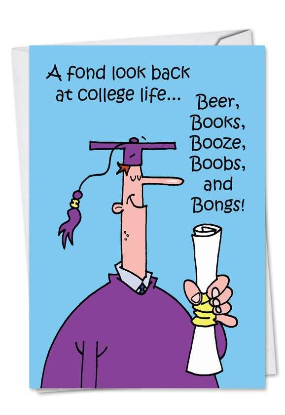 Fond Look Back: Funny Graduation Greeting Card