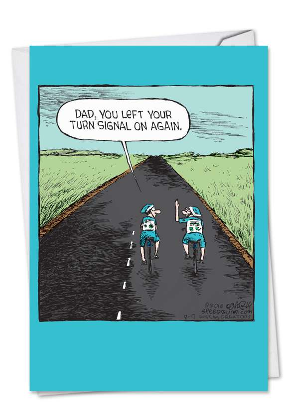 Dad Hand Turn Signal: Hilarious Father's Day Paper Greeting Card
