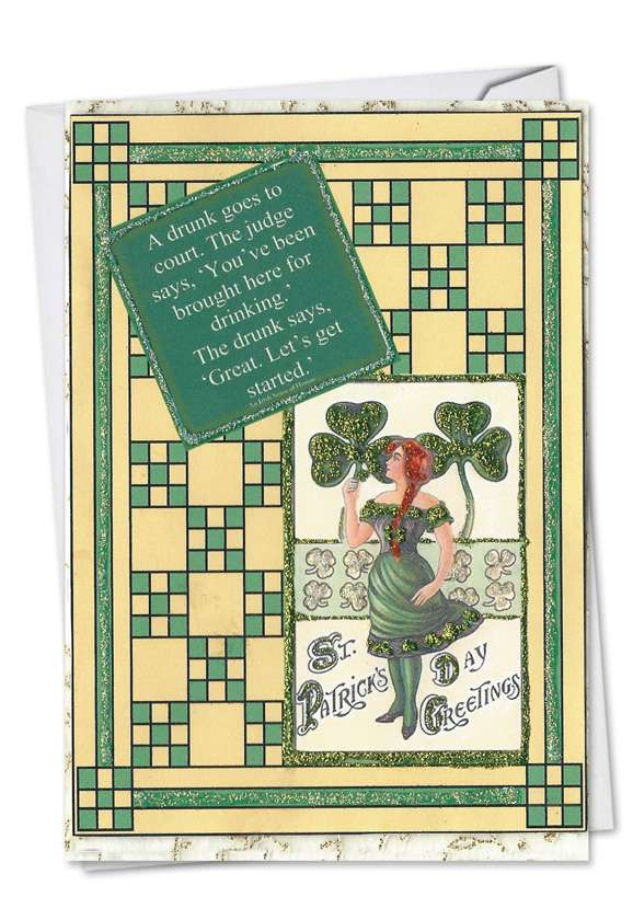 Drunk In Court: Hysterical St. Patrick's Day Printed Card