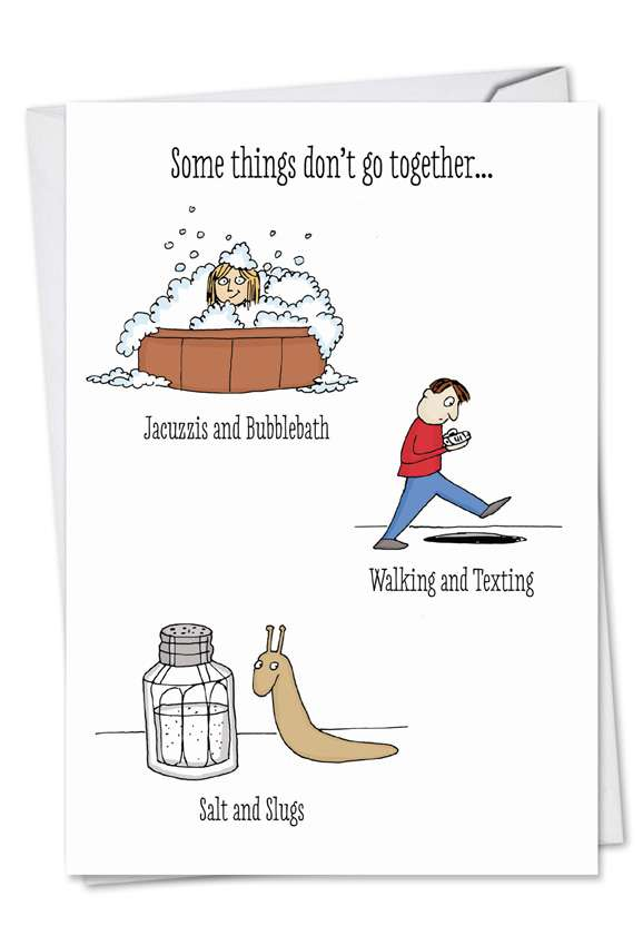 Don't Go Together: Funny Valentine's Day Printed Card