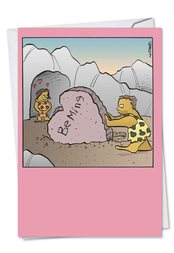 Be Mine Caveman: Funny Valentine's Day Greeting Card